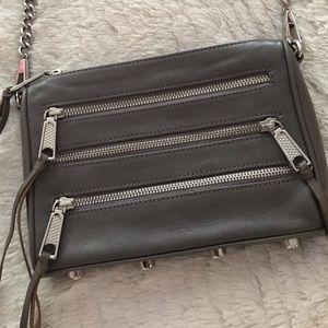 Rebecca Minkoff Grey Sleet Mini 5 Zip Crossbody